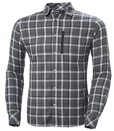 Helly Hansen Lokka T-Shirt à Manches Longues pour Homme L Grey Fog Check