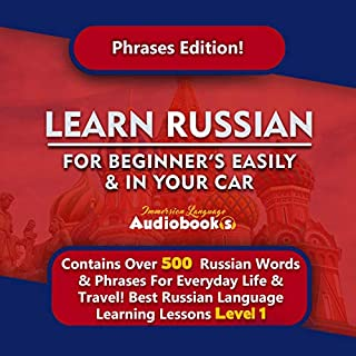 Learn Russian for Beginners Easily & in You Car! Level 1 Russian Language! Best Russian Language Learning Lessons! audiobook cover art