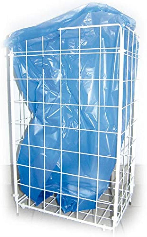 Gitterkorb für Müllbeutel, Metallgitterkorb, Metallgitterkorb, Metallgitterkorb, Wäschekorb, Gitterkorb Metall, 57 x 36 x 25 cm, weiß, 1 Stück B07N7FX6CJ 15873f