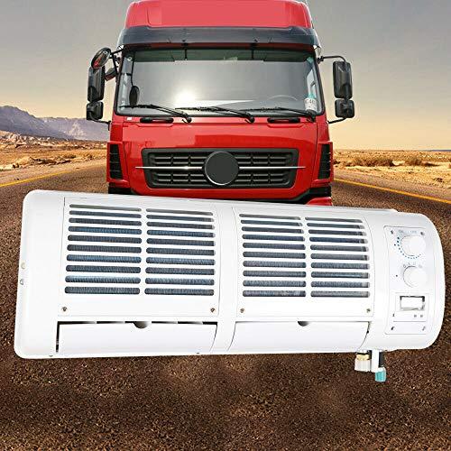 Aire acondicionado de coche, montaje en pared, ventilador de camión, con pantalla de cristal líquido y 3 ajustes manuales de velocidad, 200 W para camiones, coches, caravanas