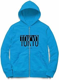 Fox Republic 東京 日本 ロゴ オーシャンブルー キッズ パーカー シッパー スウェット トレーナー 130cm