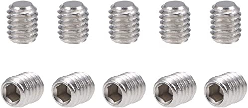3mm M3 x 3mm 50pcs//lot M3 A2 Stainless Steel Flat Point Grub Hex Socket Set Screws Metric DIN913