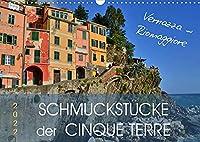 SCHMUCKSTUeCKE der CINQUE TERRE (Wandkalender 2022 DIN A3 quer): Das schoenste Stueck Liguriens (Monatskalender, 14 Seiten )
