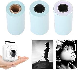 3 Rolls 57x30mm Heat Sensitive Thermal Printing Sticker Paper Set for Paperang Printer BPA-Free yunbox299 Thermal Printing Paper Roll