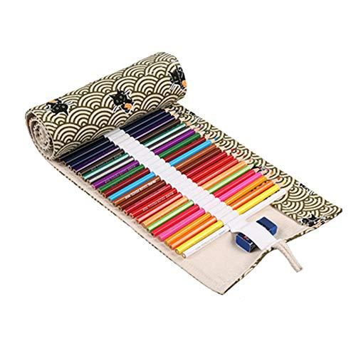 YWRD Estuche Escolar Estuche Grande Lápiz lápiz Abrigo Estuche para lápices Enrollable Lápiz Casos Chicas Lápiz Caso 72