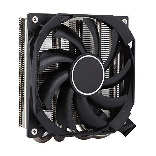 Dpofirs Enfriador de CPU IS-30, Ventilador de enfriamiento de CPU Smart Mute Compatible con AM4 multiplataforma, Enfriador de CPU con Pasta térmica de Tubo de Aguja