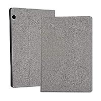 Huawei MediaPad T5用ユニバーサル電圧クラフト布TPU保護ケース、ホルダー付き (色 : Grey)