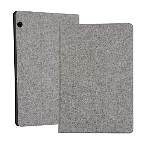 MOYOFEE JYMD AYD Universal Voltage Craft Cloth TPU Protective Case for Huawei MediaPad T5, with Holder (Color : Grey)