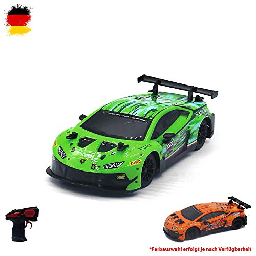 Lamborghini Huracan GT3 Ferngesteuertes RC Fahrzeug original Design, Lizenz-Auto, Lizenziertes Modell, Maßstab 1:24, Ready-to-Drive, Auto inkl. Fernsteuerung