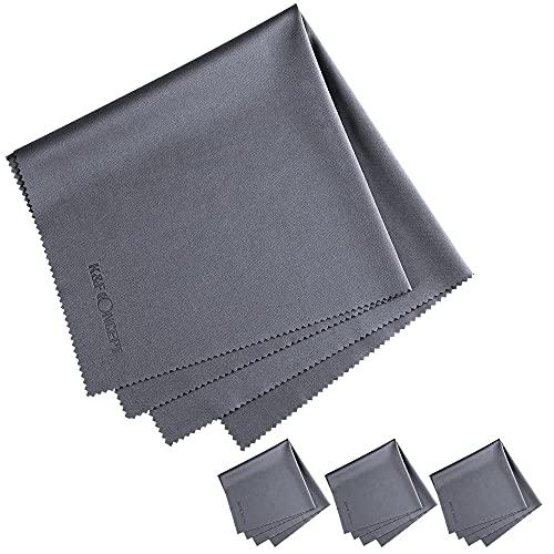 K&F Concept-Paños de Limpieza de Microfibra, Paños Grande 41×41cm/Secos/Lavables/para Gafas Pantallas Objetivos Lentes PC, Gamuza, Toallitas, Bayeta para Limpiar, Paquete de 4