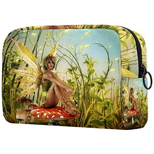 Bolsa de maquillaje personalizada para brochas de maquillaje, bolsas de aseo portátiles para mujeres, bolso cosmético, organizador de viaje, disfruta de los últimos rayos de sol