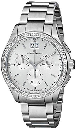 Maurice Lacroix MI1057-SD502-130 Miros Damen-Armbanduhr aus Edelstahl