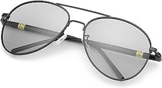 TJUTR - Polarizadas Gafas de Sol Fotocromaticas Hombre, Aviador Metal Marco Antideslumbrante -100% Protección UVA UVB
