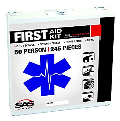 SAS Safety 6050-01 50-Person First-Aid Kit, Metal Box from SAS Safety Corp.