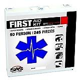 SAS Safety 6050-01 50-Person First-Aid Kit, Metal Box, 50 Person