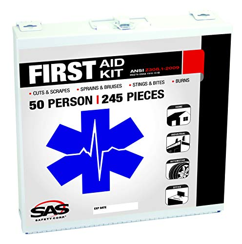 SAS Safety 6050-01 50-Person First-Aid Kit, Metal Box