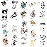 YLGG Pegatinas de Tatuaje Temporal a la Moda de Kitty Cat, adecuadas para Hombres y Mujeres, Impermeables, extraíbles