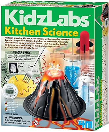 4M Kitchen Science Kit - DIY Chemistry Experiment Lab Stem Toys Gift for Kids & Teens, Boys & Girls (3806)