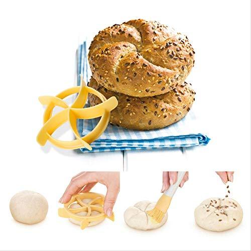 Wjfijz Coupe-pâtisserie pâte Presse à Biscuits Rouleaux de Pain Timbre Moule de Cuisson ustensiles de Cuisson Dessert Outils Cookies Coupe Moule Accessoires de Cuisine