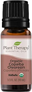 Plant Therapy Copaiba Oleoresin Organic Essential Oil 100% Pure, Undiluted, Natural Aromatherapy, Therapeutic Grade 10 mL ...
