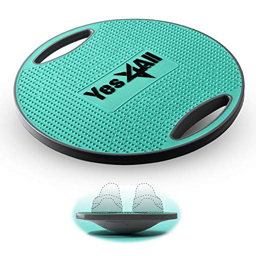 Yes4All Wobble Balance Board/Round Wobble Board – 16.34 inch Plastic Balance Board for Rehabilitation Exercise & Core Strength Training (Teal), O. TPE Balance Board - Teal
