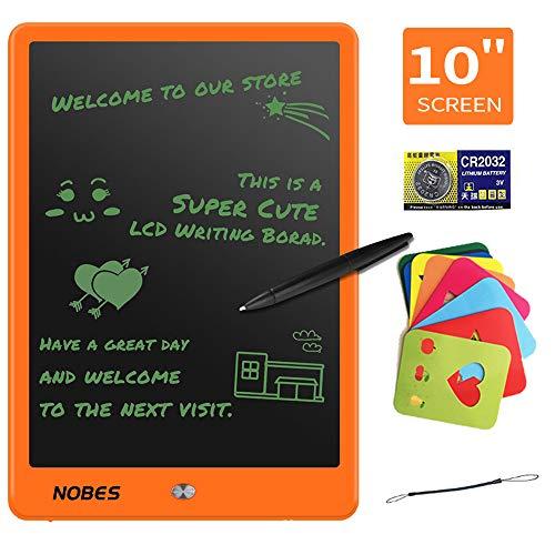Preisvergleich Produktbild NOBES LCD-Schreibtisch,  20, 3 cm (8, 5 Zoll),  Grafiktablett,  tragbar,  zum Schreiben und Zeichnen ohne Papier,  geeignet für Haus,  Schule und Büro,  elektronische Notizen orange Orange 25, 4 cm