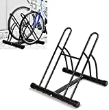 <span class='highlight'><span class='highlight'>Femor</span></span> Floor Mount Bicycle Rack for 2 Bikes Stand Double Bicycle Holder Storage Rack Garage Outdoors