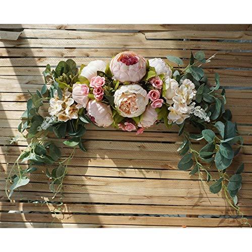 Membrana de la membrana Colgando de la casa de la mesa de la casa de la tabla de la simulación decorativa de la flor de la flor de la decoración de la puerta del anillo 花 摆件 colgando de la pared