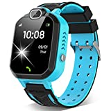 Kids Smart Watch for Boys Girls - Kids Smartwatch Phone with Calls 7 Games Music Player Camera Alarm Clock Calculator SOS Calendar Touch Screen Children's Smart Watch for Kids Birthday Gifts(Blue)