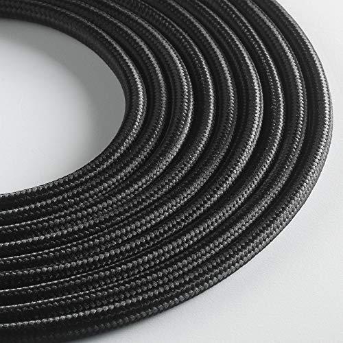 Klartext - Cable textil redondo para iluminación (3 x 0,75 mm, 3...