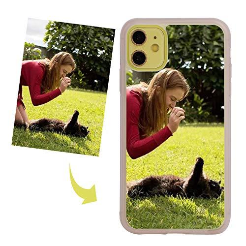 YJZQ iphone Coque Antichoc Étui Photo personnalisé Coque Dure Non Transparente Coque Souple TPU Silicone Housse iPhone11 Max iPhone11 Pro iPhone11