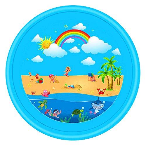 ZXGQF Juego de Salpicaduras y Salpicaduras, piscina al aire libre antideslizante con fondo...