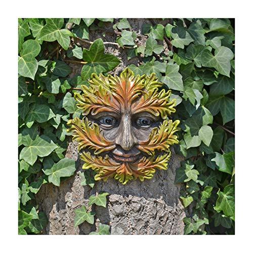 Plaque murale avec inscription « Tree Ent Face » pour décoration d'automne – Grand jardin, Greenman – 16 cm