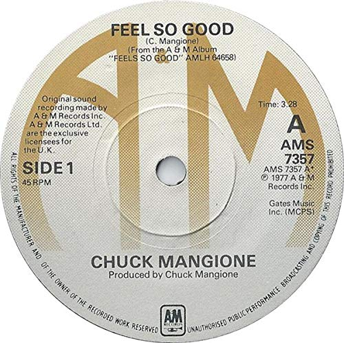 Chuck Mangione Feel So Good promo UK 45 7
