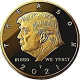 Not My President - Donald Trump Treason & Impeachment, 24kt Gold Plated Coin Says it All - Perfect Anti Trump Novelty for The Trump Hater in Your Life - (Stand, & Case)