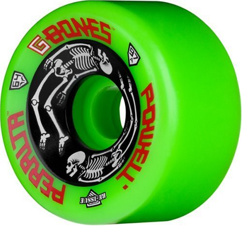 Powell-Peralta G-Bones Skateboard Wheels 64mm 97A (Green)