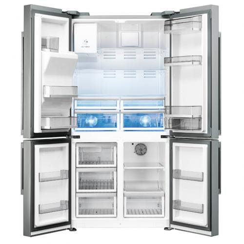 Smeg FQ75XPED Independiente 747L A+ Acero inoxidable nevera puerta lado a lado - Frigorífico side-by-side (Independiente, Acero inoxidable, Puerta francesa, LED, Puerta a puerta, LCD)