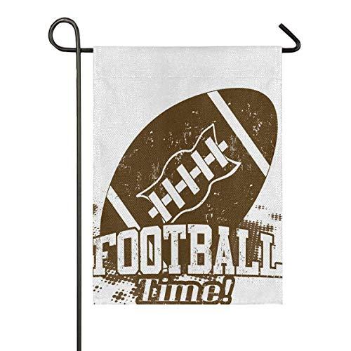 lovely baby-Z Grunge American Football Jute-Gartenflagge, doppelseitig, für Haus, Hof, Urlaub, saisonale Outdoor-Dekoration, 12 x 18 cm