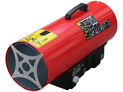 Rotek Gas-Direktheizer mit 50 kW Heizleistung und integriertem Thermostat, Rotek HG-50-230-TI
