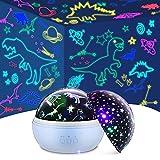 TELLSOKY Proyector de Galaxia, Regalos Niño 2 3 4 5 6 7 8 9 10 Años proyector Bebe Juguetes Niñas 1-10 Años Lampara Bebe Noche Regalos para Niña de 3 a 12 Años Lampara Bebe (Azul)