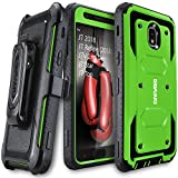 Galaxy J7 2018/J7 Refine/J7V 2nd Gen/J7 Star/J7 Top/J7 Crown Case, COVRWARE [Aegis Series] w/Built-in [Screen Protector] Heavy Duty Full-Body Armor Case [Belt Clip Holster][Kickstand], Green