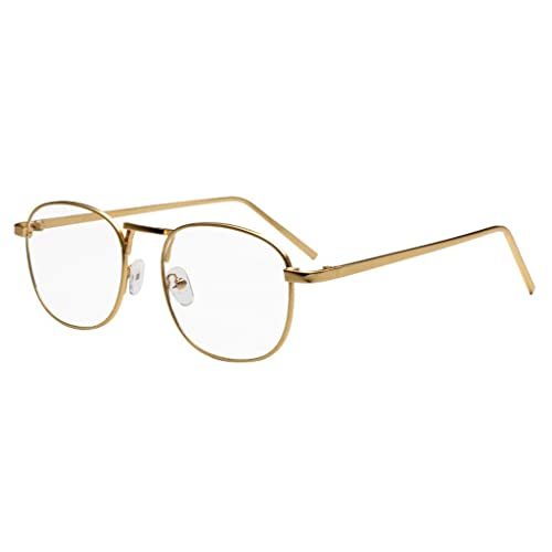 1c658e4a10c Simvey Classic Retro Vintage Small Square Clear Lens Eyeglasses Metal  Glasses Frame