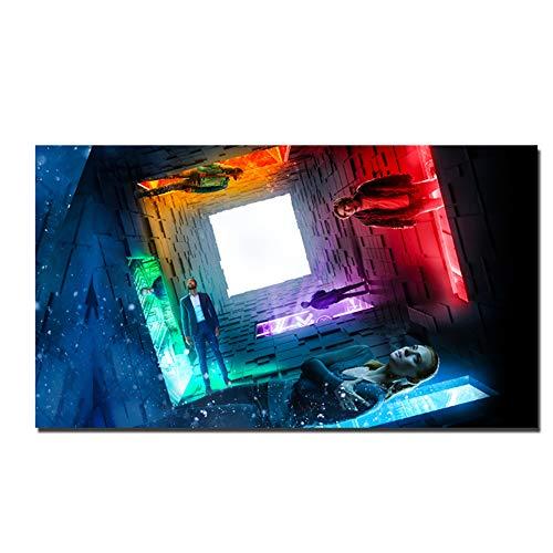 GIRDSS Escape Room Movie Poster Wall Art Pictures para Sala de Estar Decoración para el hogar Canvas Painting50X100cm sin Marco