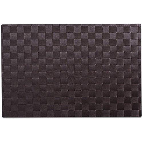 Zeller Bordsuppsättningar, polyester, brun, 45 x 30 cm