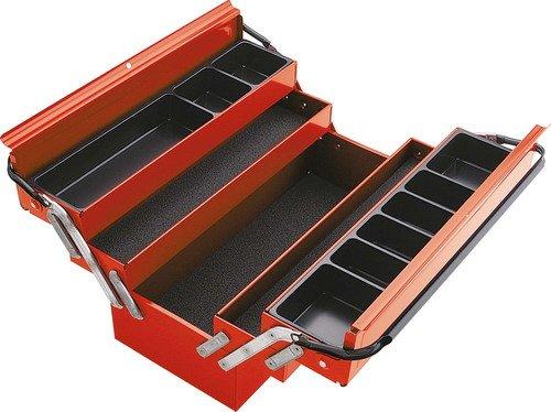 Rodac SAM-SAM-590-PBV gereedschapskist, leeg inhoud: 1 stuk, rood/zwart