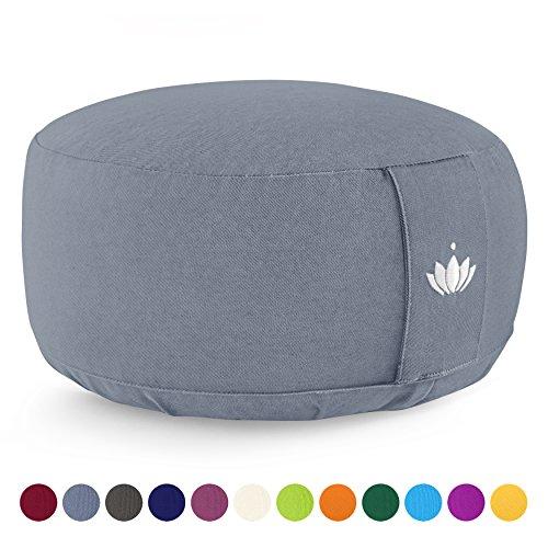 Lotuscrafts Meditation Cushion LOTUS - Height 15 cm - Spelt Filling -...