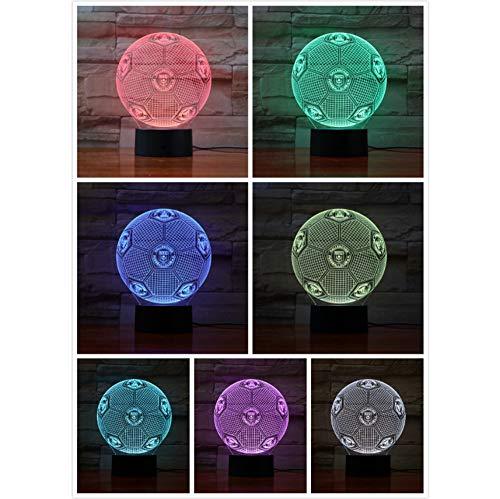 Hallescher FC Fußball 3D Lampe Dekor Zimmer dekorative Lampe Kinder Kit deutschen Fußball FC LED Nachtlicht