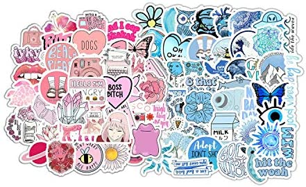 100 Stickers for Children Teens Girls Adults Fresh and Girly Pink Sticker Suitable for Water product image