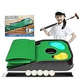 HOMDREAM Kids Golf Club Set - Putting-Matte Indoor- Und Outdoor-Minigolf Für Kinder-1 Golf Club 5 Golfball 1 Golf Green Summer Beach Outdoor-Trainingsmatte