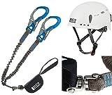 LACD Ultimate Ferrata S - Set de escalada (con giro giratorio) + casco protector 2.0 blanco